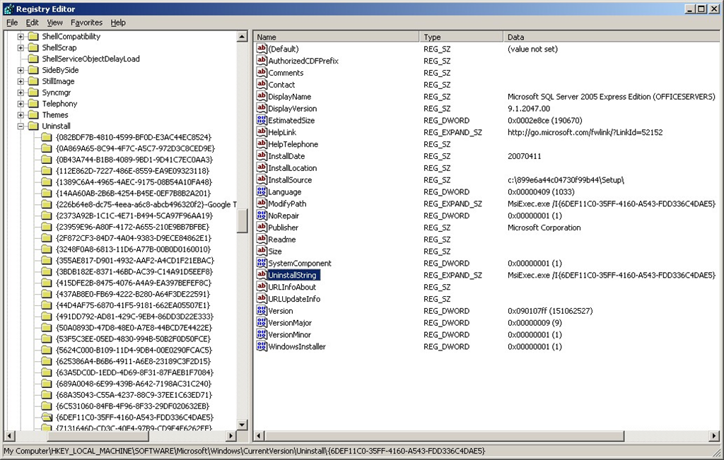 SharePoint 2007–Cleaning Up After MOSS Uninstall